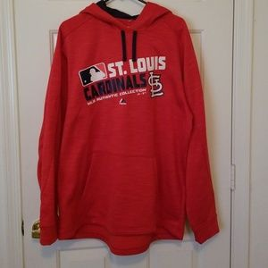 MLB Authentic Collection Hoodie St Louis